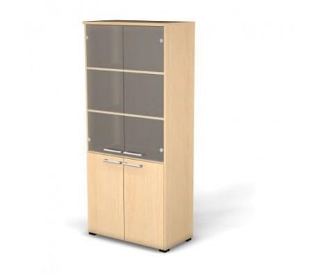 Модуль шкафа 5 уровней задняя стенка HDF прозрачное стекло 78,6x42x176,3 Smart