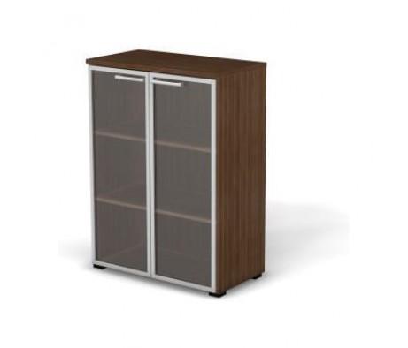 Модуль шкафа 3 уровня задняя стенка HDF стекло в алюминиевой раме 78,6x42x107,9 Smart