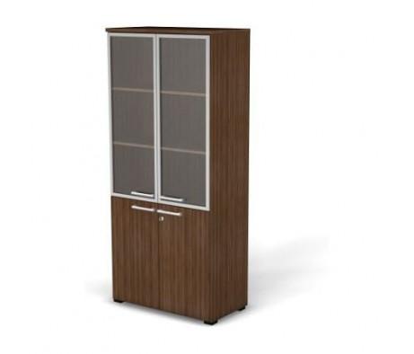 Модуль шкафа 5 уровней задняя стенка HDF стекло в алюминиевой раме 78,6x42x176,3 76H10420131022 Smart