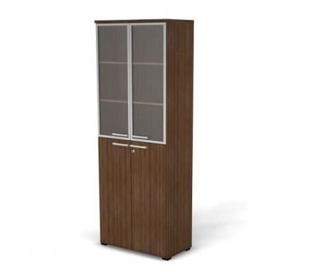 Модуль шкафа 6 уровней задняя стенка HDF стекло в алюминиевой раме 78,6x42x210,5 76H10520231022 Smart