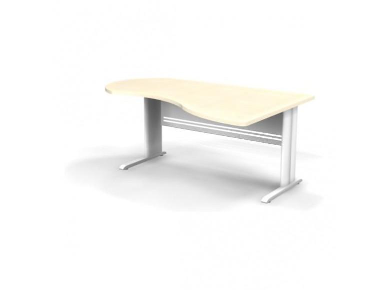 Стол асимметричный правый на L образном каркасе 180x120x74 Berlin