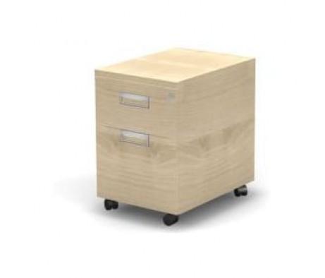Мобильная тумба 2 ящика с замком 43,2x60x63,3 Europe