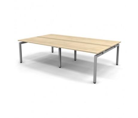 Стол рабочий металлический 4 столешницы 316x163x74,3 Europe