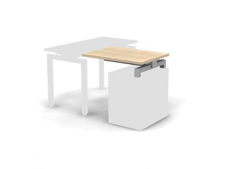 Стол приставной металлический 80x60x16,3 Europe
