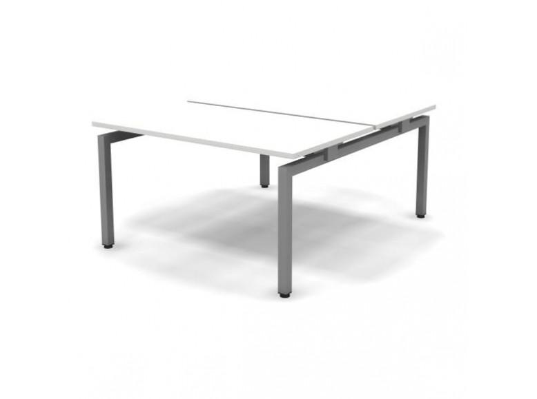 Стол рабочий металлический 2 столешницы 138x163x74,3 Europe