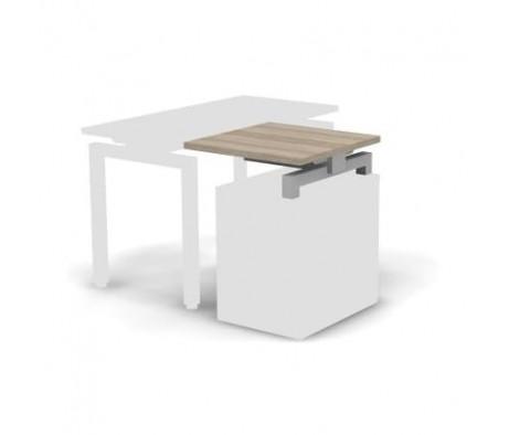 Стол приставной металлический 60x60x16,3 Europe