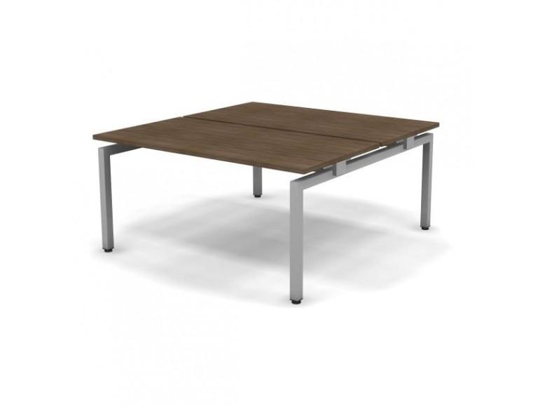 Стол рабочий металлический 2 столешницы 158x163x74,3 Europe