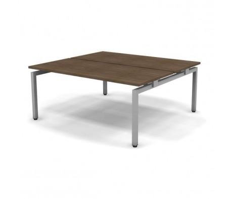 Стол рабочий металлический 2 столешницы 178x163x74,3 Europe
