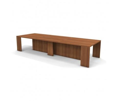 Конференц стол с 3 кабель каналами 375x125x75 Prego