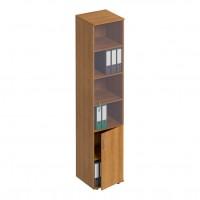 Шкаф для документов узкий со стеклом ФР 381 Formula