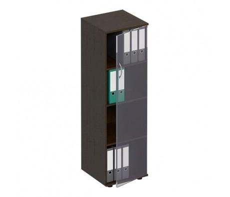 Стеллаж средний узкий со стеклянной дверью ФР 358 Formula