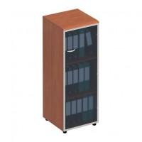 Шкаф для документов средний узкий со стеклянной дверью в рамке правый ФС 768 Matrica