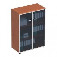 Шкаф для документов средний со стеклянными дверьми в рамке ФС 769 Matrica
