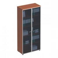 Шкаф для документов со стеклянными высокими дверьми в рамке ФС 780 Matrica