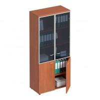 Шкаф для документов со стеклянными дверьми в рамке ФС 783 Matrica
