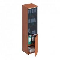 Шкаф для документов узкий со стеклянной дверью в рамке правый ФС 791 Matrica