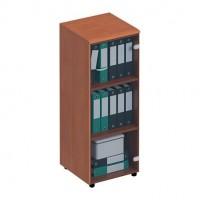 Шкаф для документов средний узкий со стеклянной тонированной дверью левый правый ФС 967 Matrica