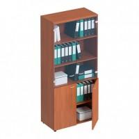 Шкаф для документов со стеклянными тонированными дверьми ФС 983 Matrica