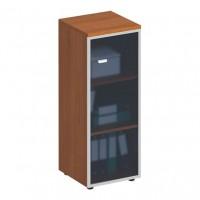 Шкаф для документов средний узкий со стеклянной дверью в рамке правый ПФ 0768 Profi