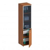 Шкаф для документов узкий со стеклянной дверью в рамке правый ПФ 791 Profi