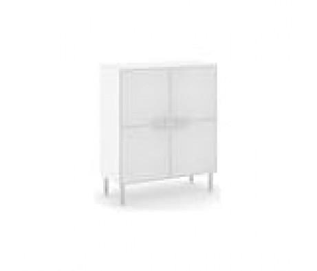 Шкаф белый 4 стеклянные двери Dado