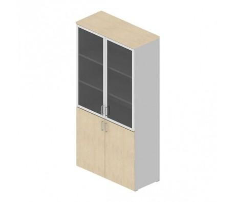 Шкаф серый комбинированный H195 Arma