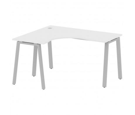 Стол криволинейный левый на А-образном м/к 140x120x75 Metal System