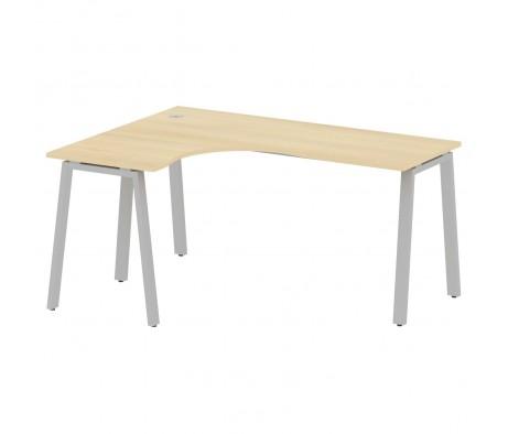 Стол криволинейный левый на А-образном м/к 160x120x75 Metal System