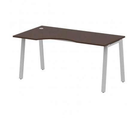 Стол криволинейный левый на А-образном м/к 160x90x75 Metal System
