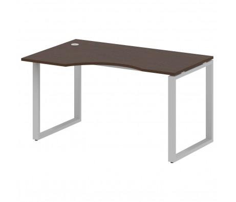 Стол криволинейный левый на О-образном м/к 140x90x75 Metal System