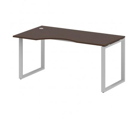 Стол криволинейный левый на О-образном м/к 160x90x75 Metal System