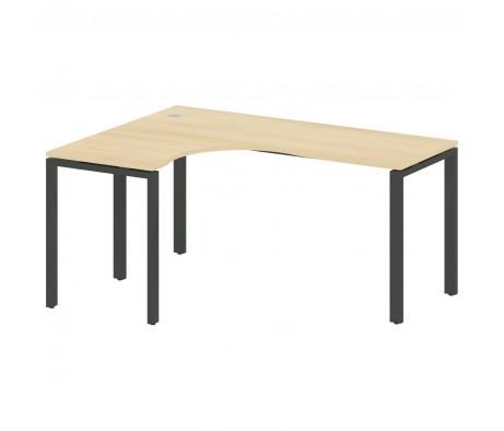 Стол криволинейный левый на П-образном м/к 160x120x75 Metal System