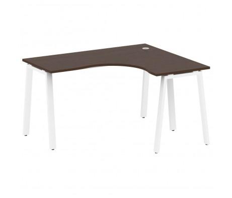 Стол криволинейный правый на А-образном м/к 140x120x75 Metal System