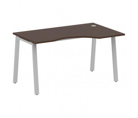 Стол криволинейный правый на А-образном м/к 140x90x75 Metal System