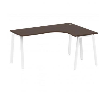 Стол криволинейный правый на А-образном м/к 160x120x75 Metal System