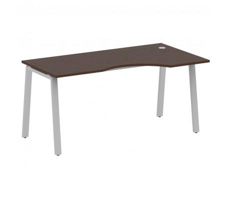Стол криволинейный правый на А-образном м/к 160x90x75 Metal System