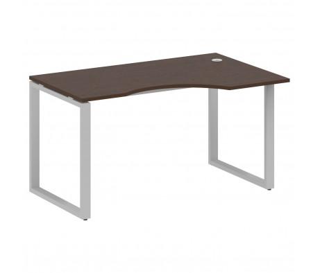 Стол криволинейный правый на О-образном м/к 140x90x75 Metal System