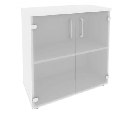 Шкаф низкий широкий (2 низких фасада стекло) 800x420x823 Onix