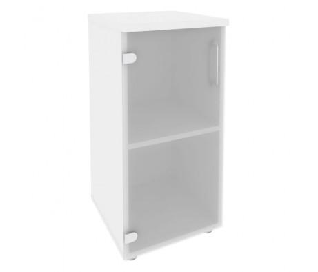 Шкаф низкий узкий левый (1 низкий фасад стекло) 400x420x823 Onix
