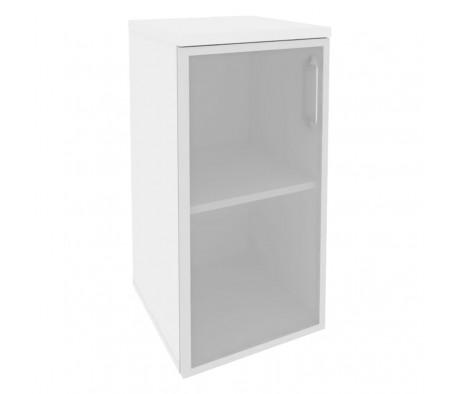 Шкаф низкий узкий левый (1 низкий фасад стекло в раме) 400x420x823 Onix