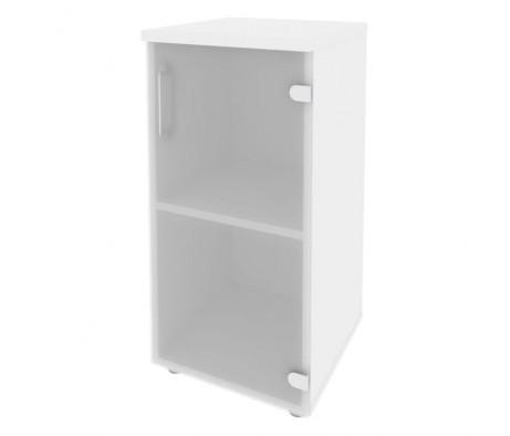 Шкаф низкий узкий правый (1 низкий фасад стекло) 400x420x823 Onix