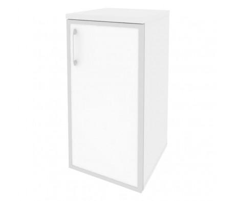 Шкаф низкий узкий правый (1 низкий фасад стекло лакобель в раме) 400x420x823 Onix