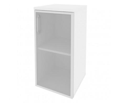 Шкаф низкий узкий правый (1 низкий фасад стекло в раме) 400x420x823 Onix