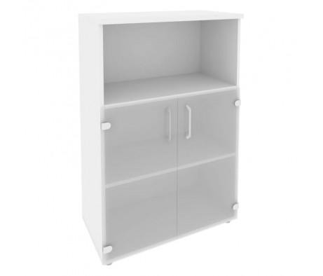 Шкаф средний широкий (2 низких фасада стекло) 800x420x1207 Onix