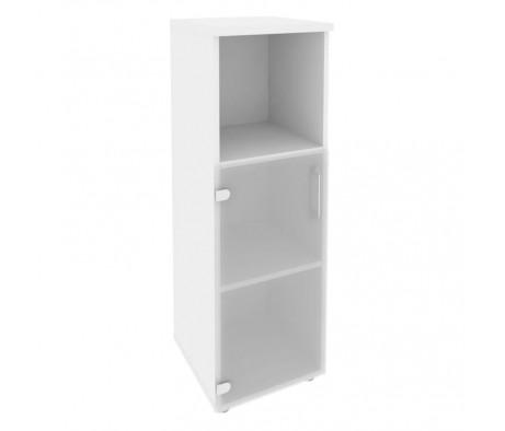 Шкаф средний узкий левый (1 низкий фасад стекло) 400x420x1207 Onix