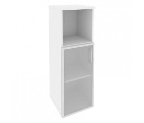 Шкаф средний узкий левый (1 низкий фасад стекло в раме) 400x420x1207 Onix