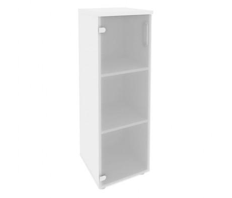 Шкаф средний узкий левый (1 средний фасад стекло) 400x420x1207 Onix