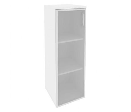 Шкаф средний узкий левый (1 средний фасад стекло в раме) 400x420x1207 Onix