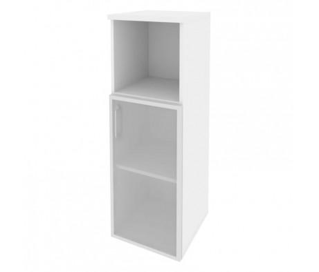 Шкаф средний узкий правый (1 низкий фасад стекло в раме) 400x420x1207 Onix