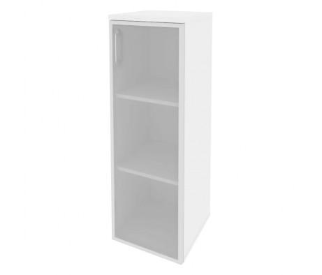 Шкаф средний узкий правый (1 средний фасад стекло в раме) 400x420x1207 Onix